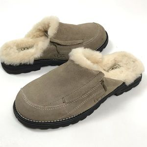UGG Bettey Sherpa lined suede clogs